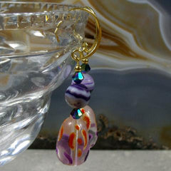 glass bead gemstone unique earrings statement jewellery handmade uk