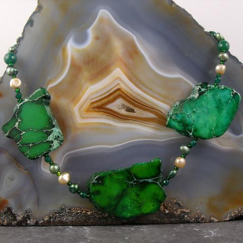 unique green statement necklace uk