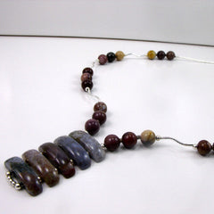semi-precious mookaite pendant necklace