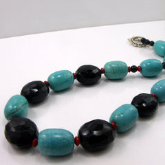chunky turquoise semi-precious necklace jewellery
