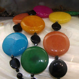 semi-precious stone necklace brightly coloured