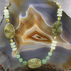 long green jade gemstone statement necklace jewellery crafted uk