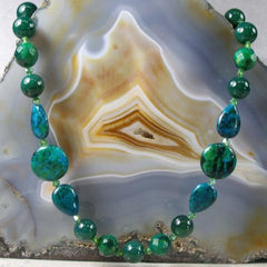 long dark green jasper statement jewellery design