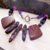 handcrafted semi-precious stone pendant necklace uk made