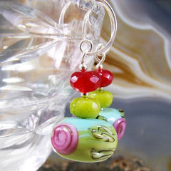 lampwork gemstone unique statement jewellery earrings uk