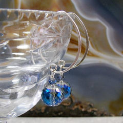 large blue crystal drop earrings uk