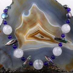 lilac quartz semi-precious stone statement uk