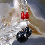 semi-precious bead statement earrings