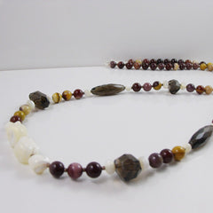 unique mookaite necklace set with quartz