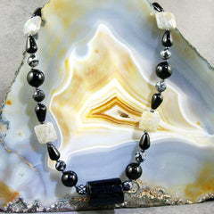 long handcrafted semi-precious stone jewellery uk made