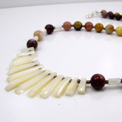 mookaite necklce with bib design