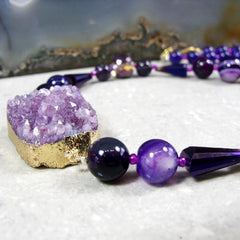 purple unique necklace design