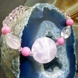 unique pink statement bracelet jewellery