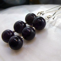 long purple amethyst original jewellery earrings uk