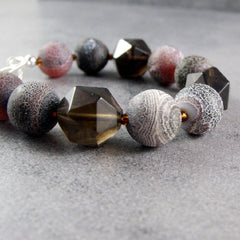 quartz bracelet unusual handmade jewellery with agate