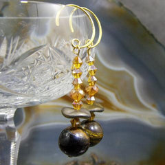 tigers eye semi-precious jewellery earrings designed uk