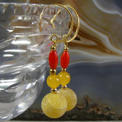 unique handcrafted semi-precious stone jewellery earrings uk