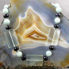 aqua quartz gemstone jewellery necklace uk