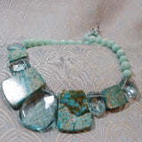 blue handmade necklace, semi-precious jewellery uk