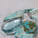 aqua quartz pendant necklace