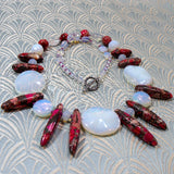 unique semi-precious gemstone necklace