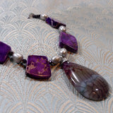 purple jasper agate pendant necklace