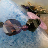 amethyst crystal heart beads