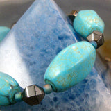 chunky turquoise blue beads