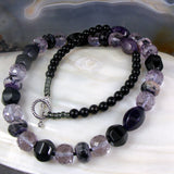 purple black necklace