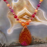 gemstone pendant necklace uk, agate jewellery