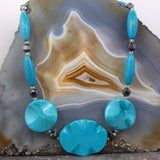 turquoise necklace, semi-precious stone jewellery