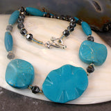 unique semi-precious gemstone turquoise jewellery necklace