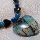 agate heart shaped pendant