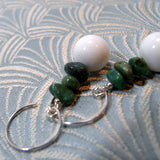 white jade and turquoise earrings