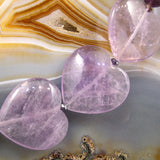large amethyst heart beads