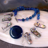 blue agate necklace uk