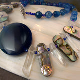 blue agate necklace, semi-precious gemstone jewellery design