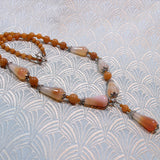 red agate pendant necklace