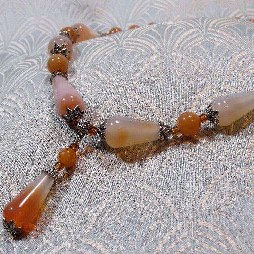 red agate necklace semi-precious stone jewellery online sale uk