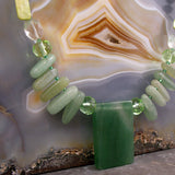 unique green gemstone pendant necklace uk