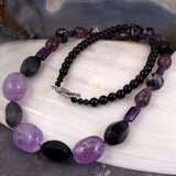 unique amethyst necklace jewellery