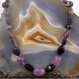 purple amethyst necklace uk crafted
