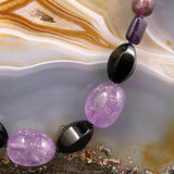 amethyst gemstone necklace uk
