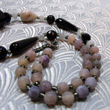 grey black semi-precious stones