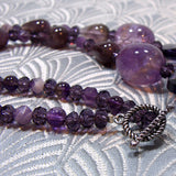 amethyst semi-precious stone necklaces uk crafted