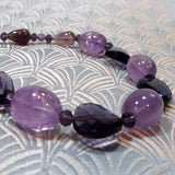 chunky amethyst necklace design
