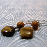 unique handmade tigers eye earring design