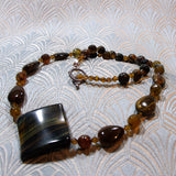 handcrafted tigers eye necklace design
