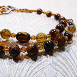 golden brown tigers eye beads
