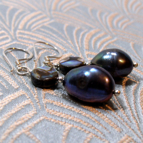 pearl drop earrings uk, semi-precious stone jewellery, unique jewellery